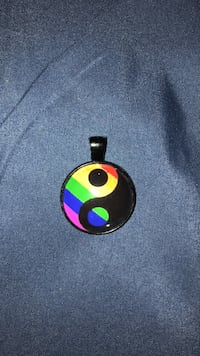 Rainbow/Pride Ying Yang Necklace Piece Jeannette, 15644