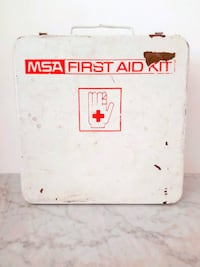 Vintage MSA Metal First Aid Box
