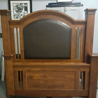 Ashley queen bed frame SOLID WOOD