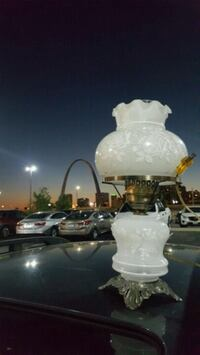 two white ceramic table lamps St. Louis, 63112