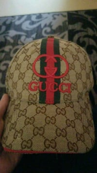 brown and red Gucci cap