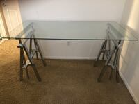 Modern glass desk! Barely used!  Los Angeles, 90025