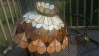 Vintage stained glass light globe & chandelier Phoenixville, 19460