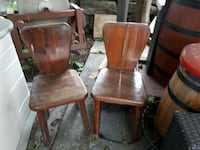 two brown wooden windsor chairs Sainte-Catherine, J5C 1Z7