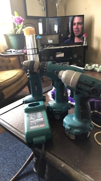 green and black cordless hand drill Akron, 44310