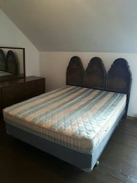 Queen size bed frame with box spring and mattress  Marmora, K0K 2M0