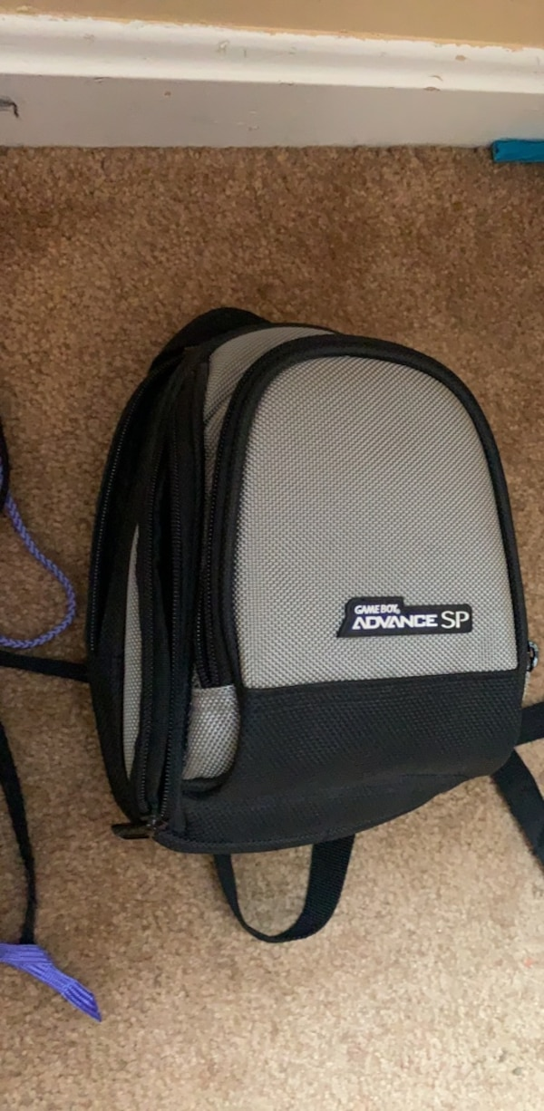black and gray laptop bag