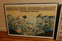 Ringling bro combined shows framed poster  The Bronx, 10452