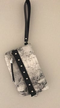 black and gray leather crossbody bag Niles, 60714