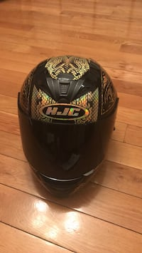 Black & Gold Sz Large HJC Helmet Woodbridge, 22193