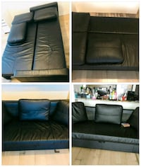 black leather sectional sofa collage Toronto, M2J
