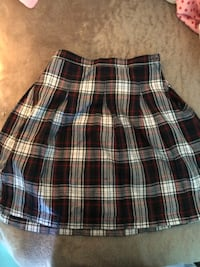 black and white plaid skirt Moseley