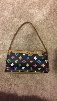 multicolored leather hobo bag