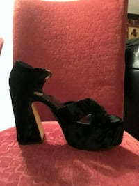 Black suede wedge shoes Yonkers, 10708