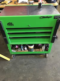 Green and black tool cabinet Caledon