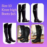 Pair of black knee-high boots