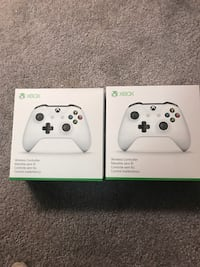 two white Xbox One controllers boxes Calgary, T2L