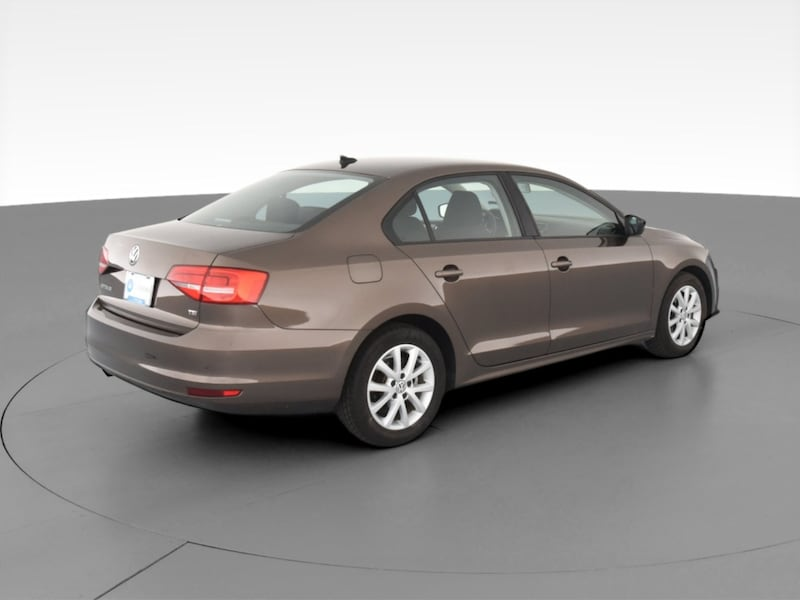 2015 VW Volkswagen Jetta sedan 1.8T SE Sedan 4D Brown  10