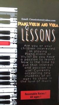 Private piano,violin or viola lessons at your place! Falls Church, 22046