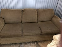 brown fabric 3-seat sofa Fairfax, 22033