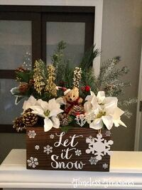 Rustic Christmas Flower Centerpiece