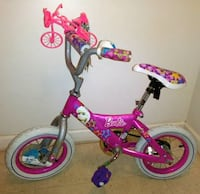 """KIDS 12"""" BARBIE BIKE W/ RIDE WITH ME CARRIER, BELL York"""