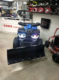 200cc ATV with snow plow and winch