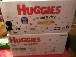2 Boxes Huggies size6 124 Count