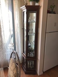 Wood and glass cabinet  Edmonton, T5E 4G6