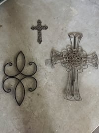 4 pieces of wrought iron wall art Central, 70739