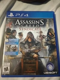 Assassin's Creed Syndicate PS4 game case Amherstview, K7N 1B7