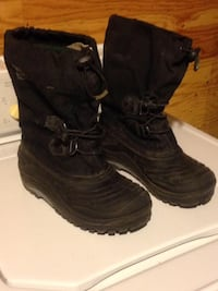 Pair of black leather boots size 6 Winnipeg, R2K 4A1