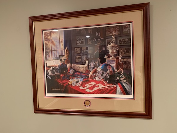 """""""OLE MISS LEGACY"""" Daniel Moore Framed and Numbered Lithograph Print. 8c9a7280-484c-4676-b4f6-3e0cbd93a66f"""