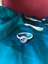 Real Antique Silver Tanszanite Ring