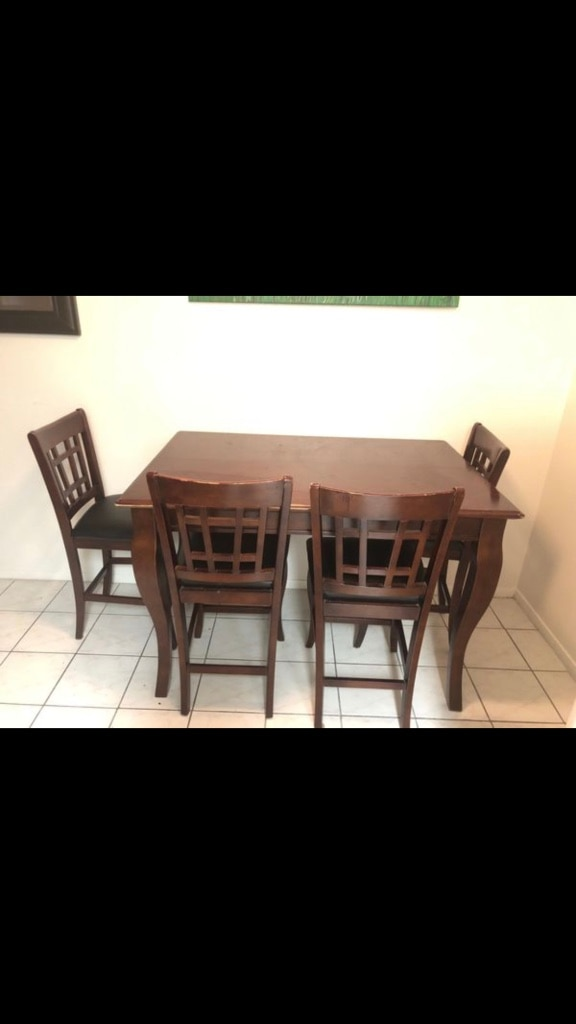 used red chestnut real wood table for sale in fontana letgo rh us letgo com