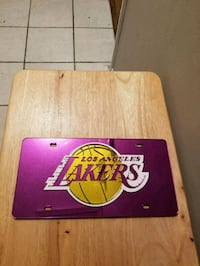 Lakers front car tag, sturdy plastic Mobile, 36695