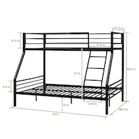 Twin over full size bunk bed frame