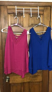 women's two red and purple tank tops Granger, 46530