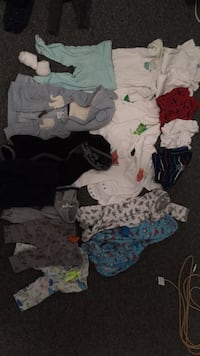 A whole leaf bag full of baby's clothes NB-6 months obo neg Saint James, 11780