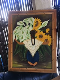 green and yellow bird painting Los Angeles, 91042