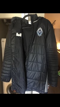 Dark Blue Whitecaps FC winter jacket. Size Medium Vancouver, V5P 3X8