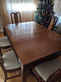 Wooden Dining Table + Chairs Set + Credenza Storage Unit !
