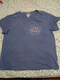 blue crew-neck shirt New York, 10005