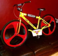Dog town  red and black bicycle New York, 11221