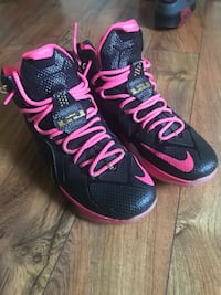 Black and pink and gold custom Lebrons 12s size 12.5 Martinsburg, 25401
