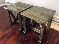 TWO BEAUTIFUL SOLID WOOD END TABLES / SIDE TABLES / BEDSIDE TABLES Edmonton, T5N 2E7