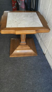Vintage wood and marble table Placentia, 92870