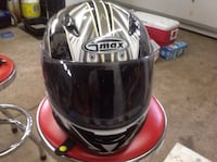 White, gray, and black gmax full-face motorcycle helmet West Lincoln, L0R