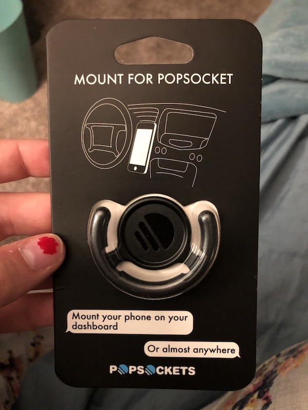 Pop socket mount. Never opened