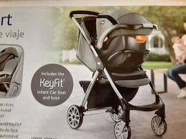 Combination stroller and car seat